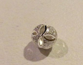 Sterling Silver 925 balls with Flower
