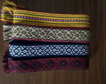 Tablet weaving, Woven Hand antique, Traditional Folk Belt Hand Woven,Traditional Folk Belt