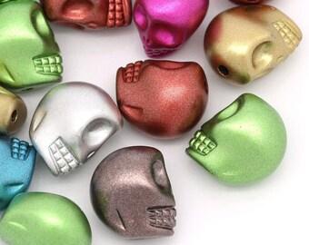 Green Pearl Metallic - skull / skull