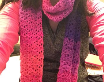 Crochet ombre scarf