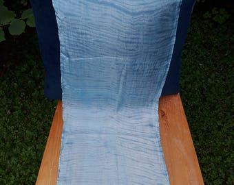 Silk Indigo Tie Dyed/Shibori Scarf