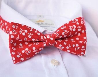 Cherry Bow Tie