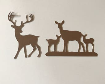 Deer Family Cut Outs