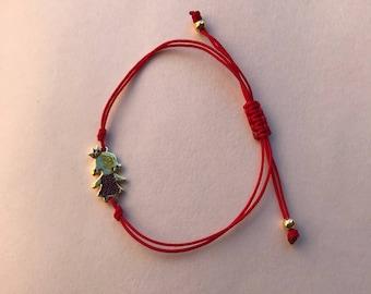Girl charm bracelet