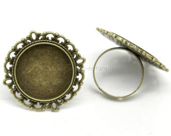 20mm - Bronze - Ring for cabochon 20mm