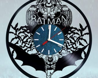 Batman Batmobile DC Comics Vinyl Record Wall Clock