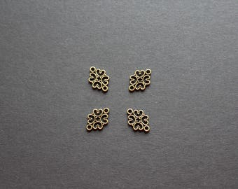 ethnic arabesque bronze 4 connectors