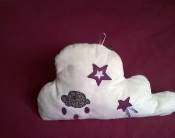 child white cloud pillow soft fur