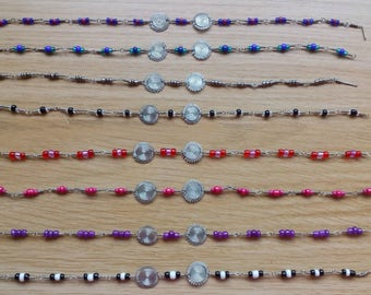Beaded sun anklets/braclets