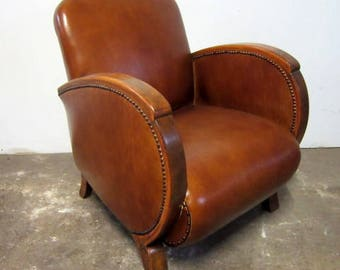 Chairs art deco leather
