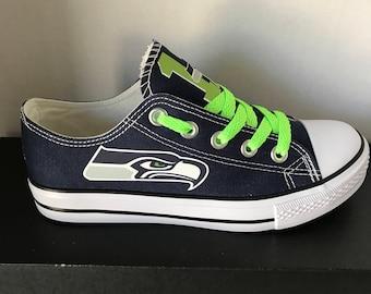 Seattle Seahawks Women's Canvas Tennis Shoes Please Read Description Before ordering