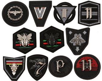 Patch,metals Patch,bumble bee patch,Gucci patch,black patches with metals,patches badges,cloth patches,round patches