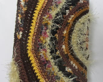 FREEFORM crochet covered decorated notebook