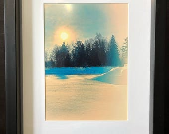 Wall Decor Snowy Winter Morning: Color Photograph
