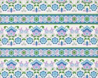 70's flower wallpaper of meters running #0717 - / vintage wallpaper / flower wallpaper