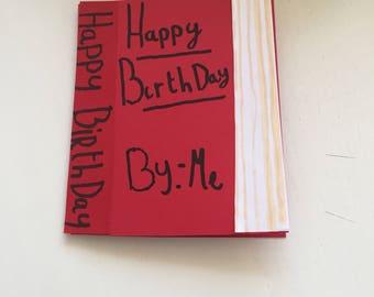 Birthday book card