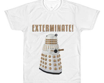D-A-L-E-K Doctor Who - All-Over Printed T-Shirt