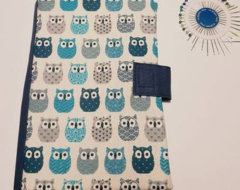 Blue OWL health booklet protection cover
