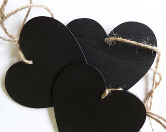 Heart shaped 3 wood tags