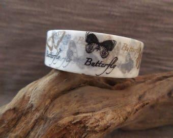 Masking tape butterflies gold / black
