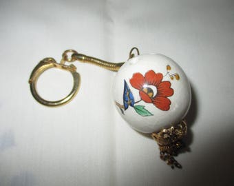 Vintage collectable Royal Worcester Keyring Pomander from Palmyra range 1970's