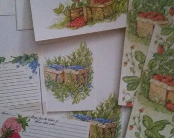 Vintage Stationery Collection ~ Berry Patch Collection