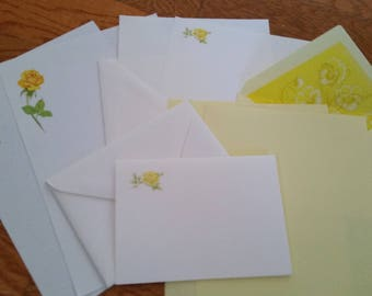 Vintage Stationery Collection ~ Beautiful Yellow Roses - Montag & Stuart Hall