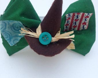 Wizard of Oz Scarecrow Hairbow