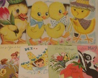 Vintage  to young lady Easter  cards