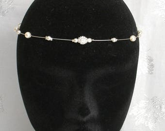 Front ref Diana jewelry pearls rhinestones and ivory without hair pendant