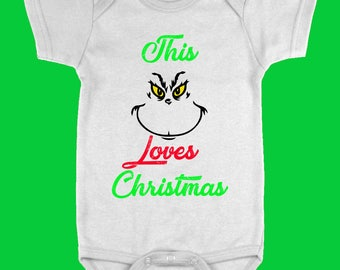 This Grinch Loves Christmas Onesie