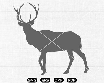 Reindeer SVG Files, Reindeer Clipart, cricut, cameo, silhouette cut files commercial & personal use