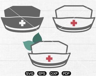 Nurse Hat SVG, Nurse Hat Clipart, cricut, cameo, silhouette cut files commercial use
