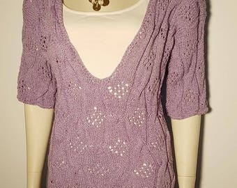 Hand knitted tunic