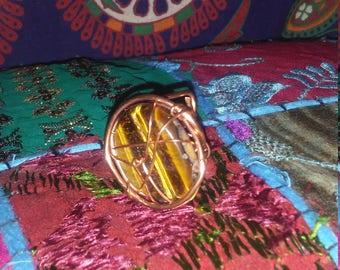 Tiger Eye Crystal Ring