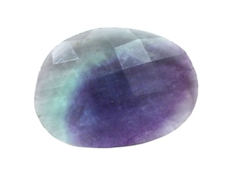 Fluorite Natural Striped Fluorite Both Side Faceted Checker cut Gemstone 12.70 cts 16x22 mm For Designer Jewelry 3982