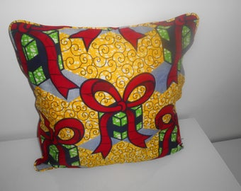 "Cover for cushion 50 cm x 50 cm ""gift"" yellow wax"