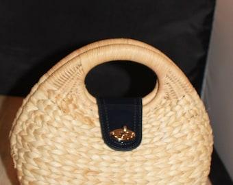 Ann Taylor Purse Resort Straw Purse Beach Handbag