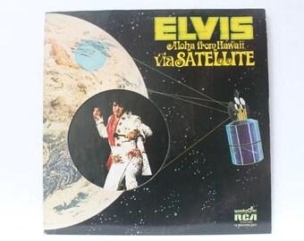 Elvis Presley, Elvis Aloha from Hawaii via Satellite, 1972, 2 record set, gatefold album