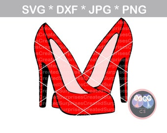 High heels, pumps, stilettos, red, svg, dxf, png, jpg digital cut file for cutting machines, personal, commercial, Silhouette Cameo, Cricut