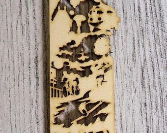 Bookmark embellishment 1172 wood for your creations