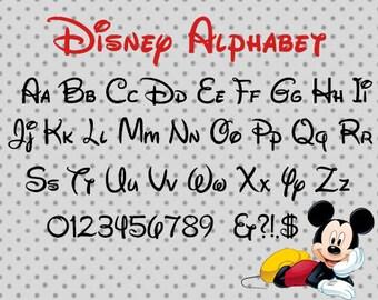 Disney Alphabet,  SVG, dxf, png, eps, disney font cricut and silhouette cameo, disney font, disney svg, font svg, disney cricut