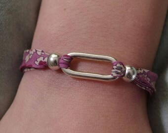 Kit Liberty purple and spacer bracelet child silver metal