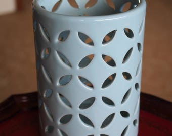 Orchid Pot - Tall Pale Blue