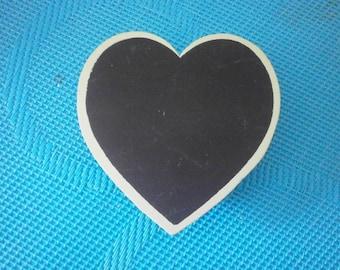 Clip slate blue heart