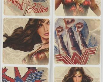"25 Wonder Woman Stickers, 2.5"" x 2.5"""