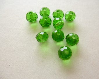 clear 6 x 4 mm light green faceted briolettes