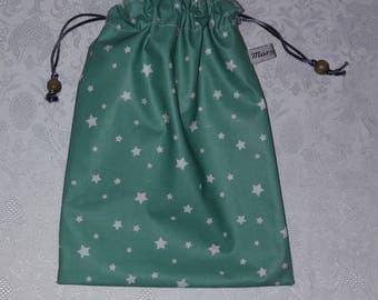 "Swimsuit waterproof DrawString bag, pool, cotton coated ""stars"""