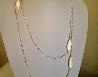 Sterling silver necklace and pearl beads