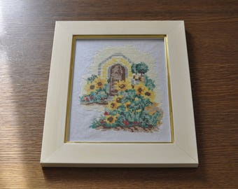 painting of sunflowers in pts counted